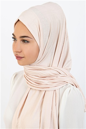 Jersey Viscon Shawl Light Beige ECA02 HJVŞ-ST131