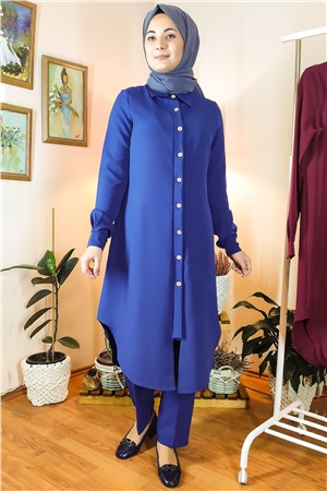 Double Trousers Tunic Suit Indigo FHM738