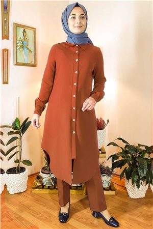 Double Trousers Tunic Suit Brick FHM738