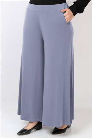 Lycra Crepe Skirt Pants Grey FHM792