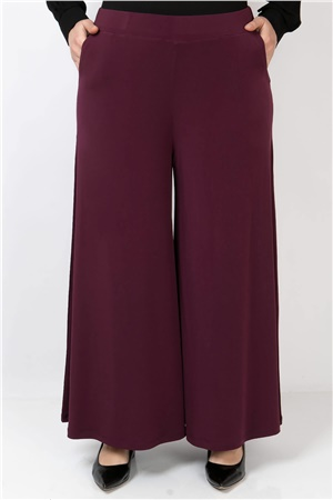 Lycra Crepe Skirt Pants Claret Red FHM792