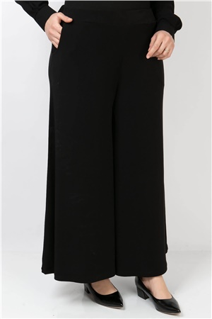 Lycra Crepe Skirt Pants Black FHM792