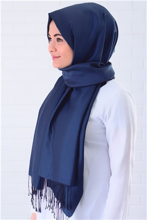 Shawl - %100 Silk - Dark Navy Blue - SAL03
