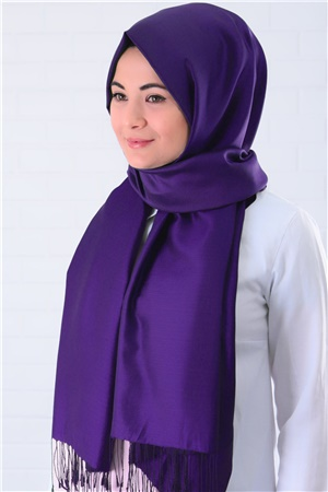 Shawl - %100 Silk - Purple - SAL03