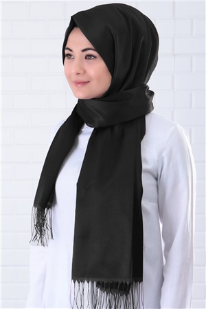 Shawl - %100 Silk - Black - SAL03