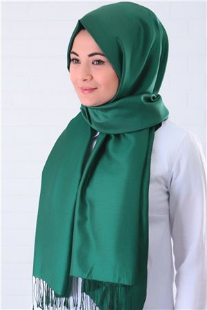 Shawl - %100 Silk - Emerald - SAL03