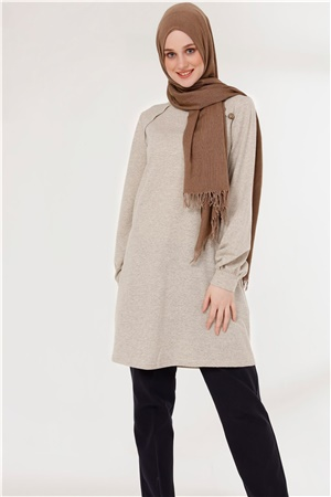 Tunic - Button - Beige - TN266 - 5424002
