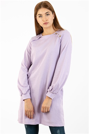 Tunic - Buttoned - Lilac - TN266 - 5424002