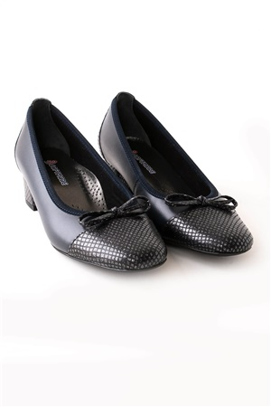 Genuine Leather Shoes Navy orthopedic ZND03
