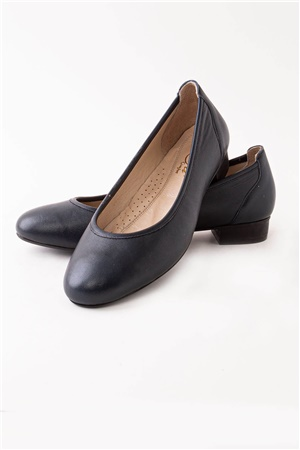 Black Genuine Leather Shoes Ortoped ZND1201